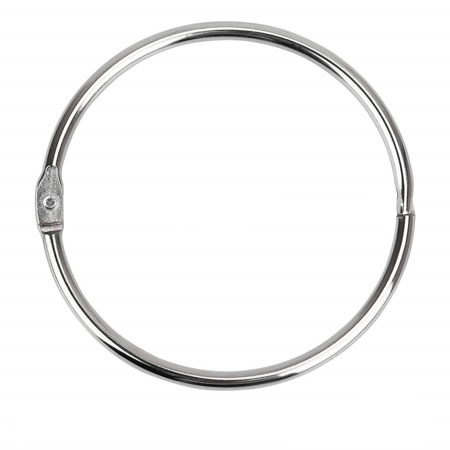 Binder Rings Loose Leaf Book Ring Large 2-3/4 Inch Diameter Nickel Plated (Silver )