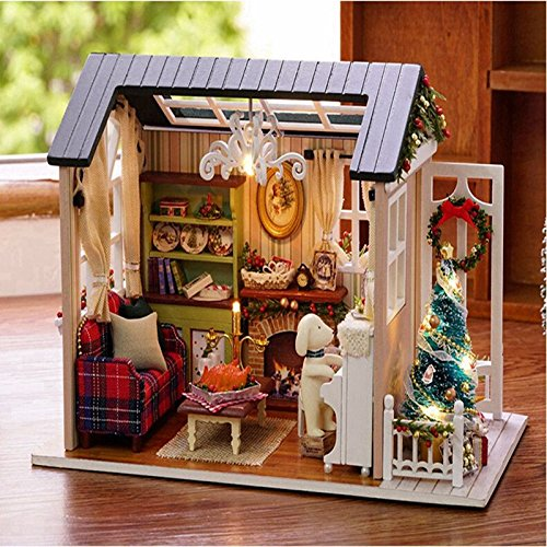Figurines Miniatures - Wooden Christmas 3d Doll House Diy Miniature Thanksgiving Holiday Craft Decor Cottage Kids Gift - Dollhouse Decorations Sceneries Festive Moderne Dolls Wood Figures -