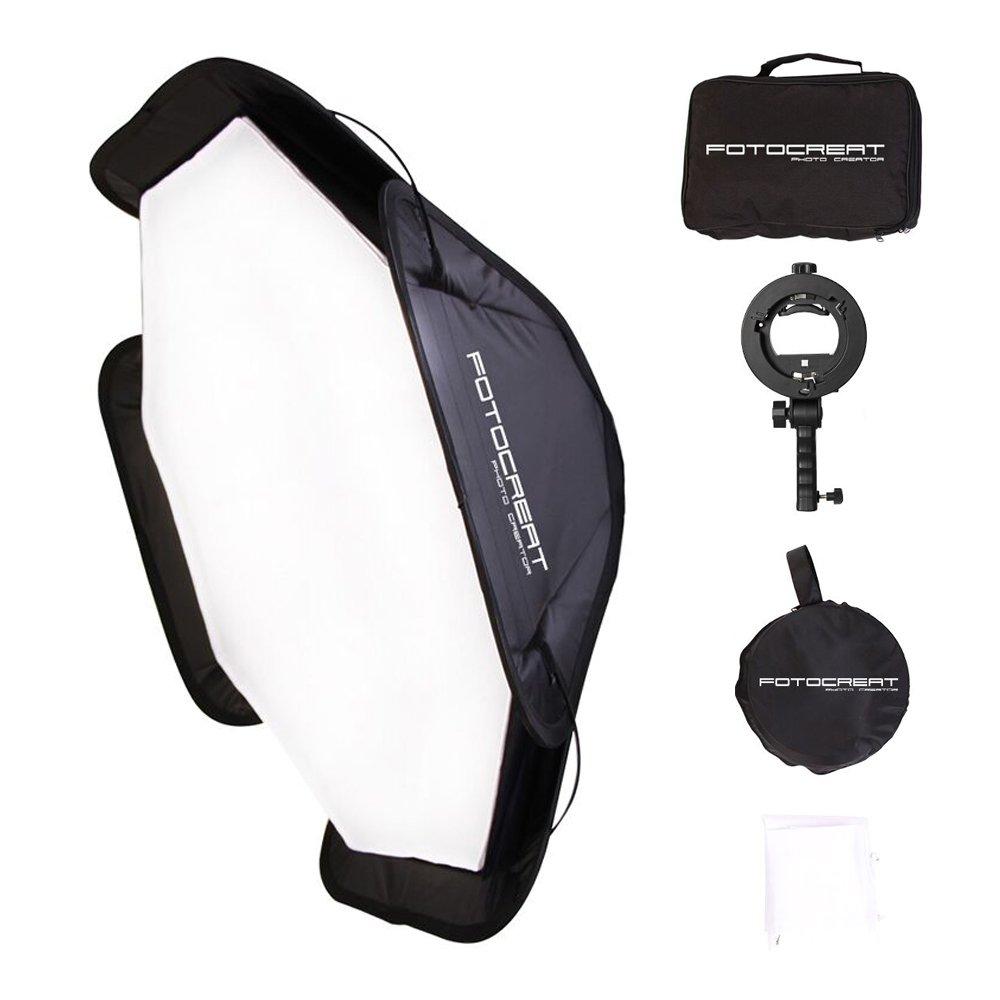 pieghevole Softbox studio flash Speedlight Softbox kit borsa con Bowens S-Type staffa di montaggio per la fotografia Fotocreat 91,4/cm 90/CM