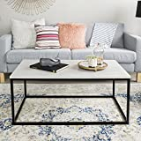 "WE Furniture 42"" Mixed Material Coffee Table - Concrete"