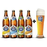 4 Pack de cervezas Alemanas Schneider Weisse + Vaso