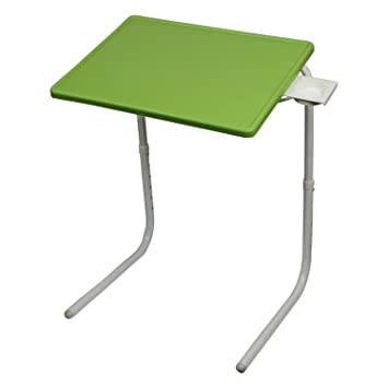MULTI TABLE 756134085092 Unbreakable Multi Purpose Table Mate With  Cupholder (Green And White)