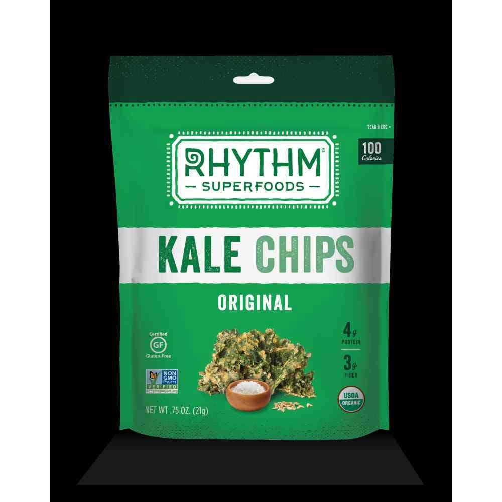 Rhythm Superfoods Organic Original Kale Chips, 0. 75 Ounce - 8 per case.