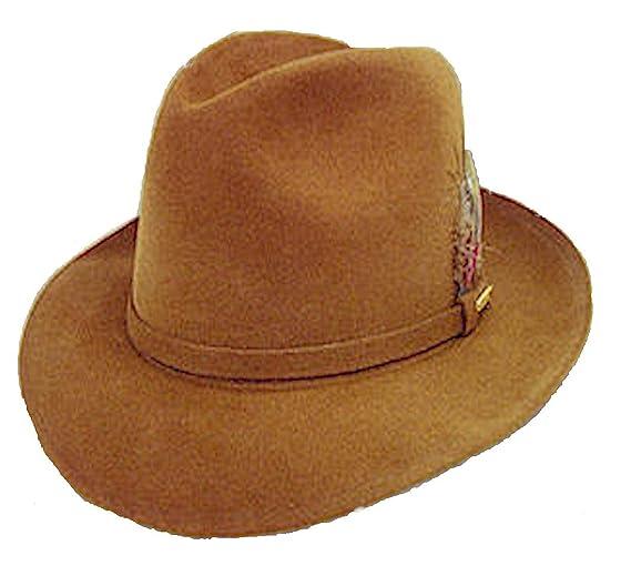 a17a2444329 Stetson Ashby Fur Felt Fedora Hat (7 1 8) at Amazon Men s Clothing ...