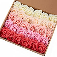 You Get 30 Individual Roses They are made of soft high quality latex foam which gives them the look of fresh rosesEach rose has it's own wire stem which is approx. 6-7 inches long The wire stem is thin as you may see from the picture, which m...