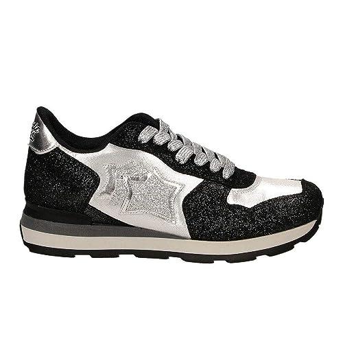 c6617528e6 Atlantic Stars Sneakers Donna MOD. Vega SA-81N Nero/Argento 37 ...