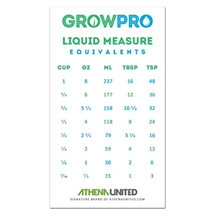 Buy Grow Pro Liquid Measure Magnet Weight Volume Conversion