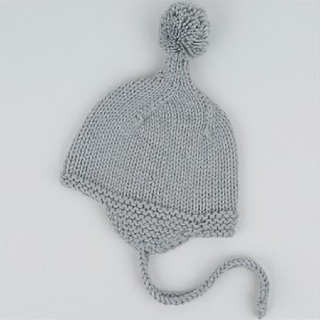 64ee2a748516 Chapeau Bébé Longra Fille Garçon Laçage Un bonnet à pompons Tricoté Bonnet  de laine Earflaps Hiver Chaud Uni Bonnets Bébé Bobs Bébé Baptême Casquettes  Bébé ...