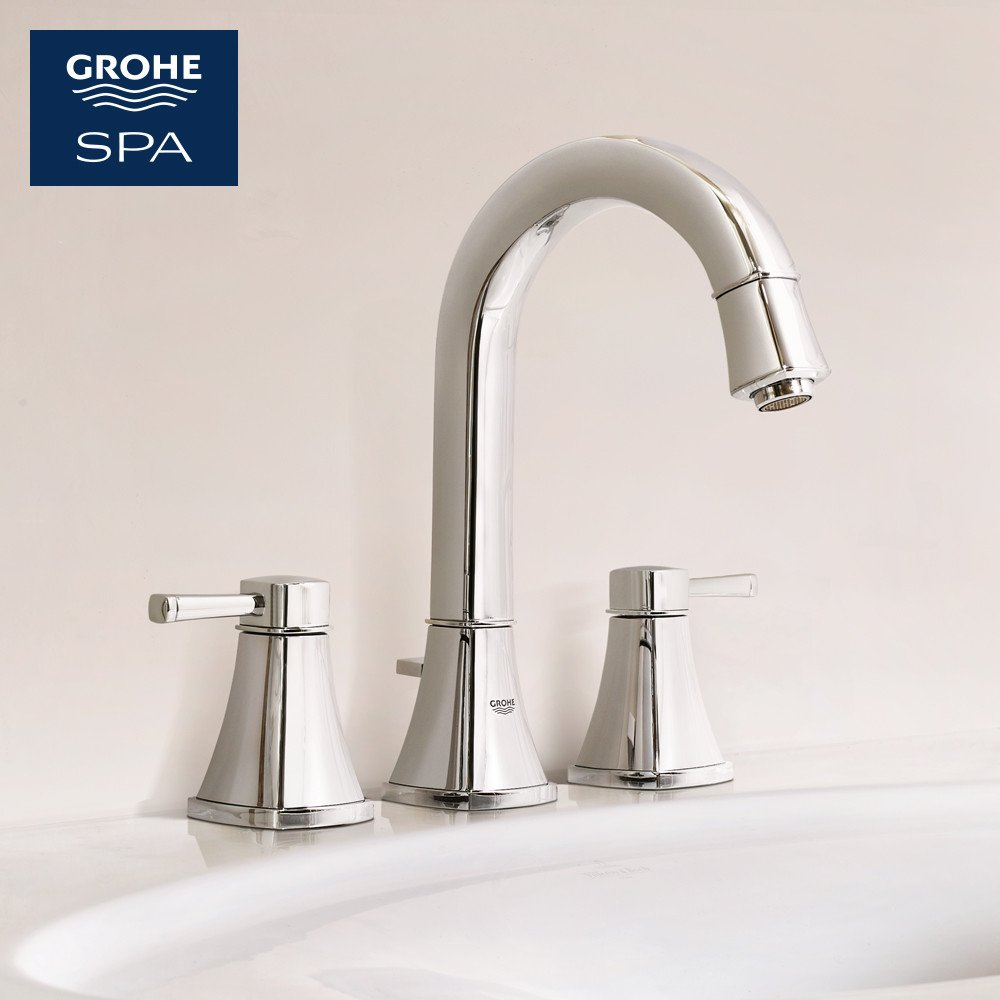 Grohe 20419000 grandera 2 handle high spout bathroom faucet 1 5 gpm touch on bathroom sink faucets amazon com