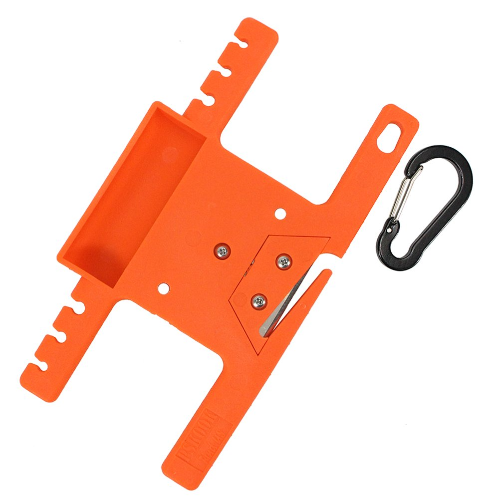 POWER PARACORD Spool Tool Paracord Organizer with Tidy Holder Parachute Cord Winder Paracord Keeper Paracord Spool (Orange)