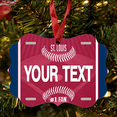- BRGiftShop Personalize Your Own Baseball Team St. Louis Christmas Tree Ornament