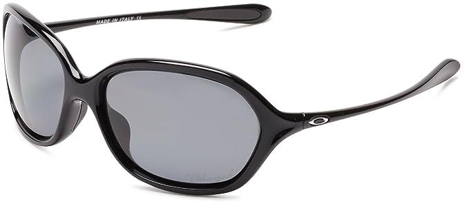 Oakley Women\u0027s Warm Up Oo9176 Polished Black Frame/Oo Grey Polarized Lens  Plastic Sunglasses