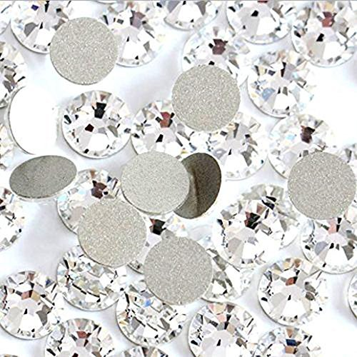 Jollin Glue Fix Crystal Flatback Rhinestones Glass Diamantes Gems for Crafts Decorations Clothes Shoes 6.4mm SS30 288pcs