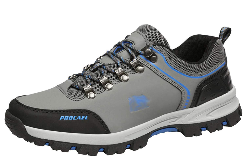 Fuxitoggo Männer Wanderschuhe Stiefel Leder Wanderschuhe Turnschuhe Für Für Für Outdoor Trekking Training Beiläufige Arbeit (Farbe   12, Größe   42EU)  000191
