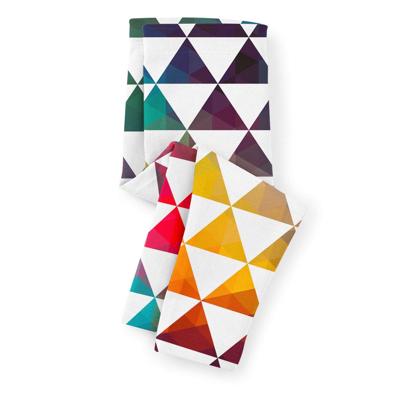 Geometric Triangle Rainbow Kids Leggings