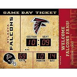 Team Sports America Atlanta Falcons Bluetooth Scoreboard Wall Clock