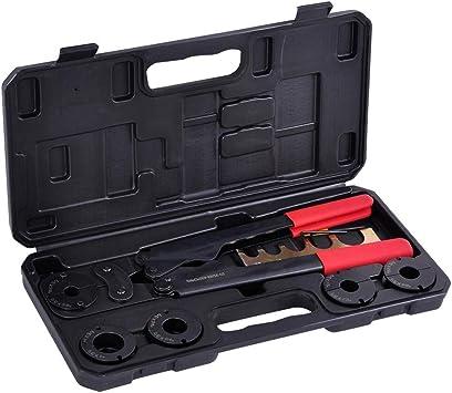 """Manual Pex Crimper Kit Copper Ring Crimping Plumbing Tool 3//8/"""" 1//2/"""" 5//8/"""" 3//4/"""" 1/"""""""