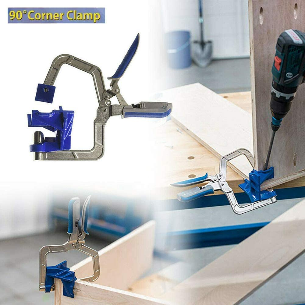 1 Pc Rugged 90 Degree Right Angle Woodworking Clamp Picture Frame Corner Clip Corner Clamp Frame Fixed Hole Puncher Woodworking Tool