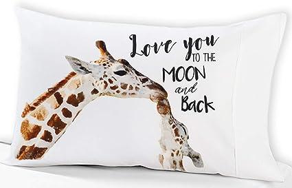 Abstract Animal Various Poses Sitting Eating Walking Inspiration Lunarable Giraffe Pillow Sham Decorative Standard Size Printed Pillowcase 26 X 20 Blue