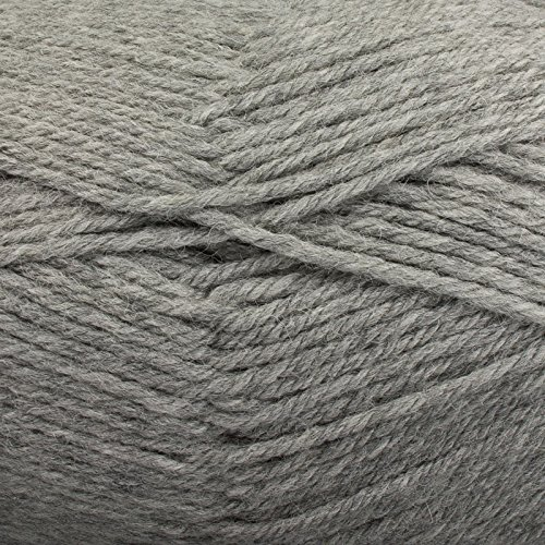 Plymouth Galway 100% Wool (Plymouth (1-Pack) Galway Worsted Yarn Lt Grey Heather 0702-1P)