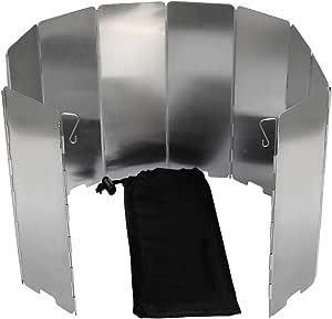 Mampara paravientos para hornillo SelfTek, 10 placas plegables, incluye funda