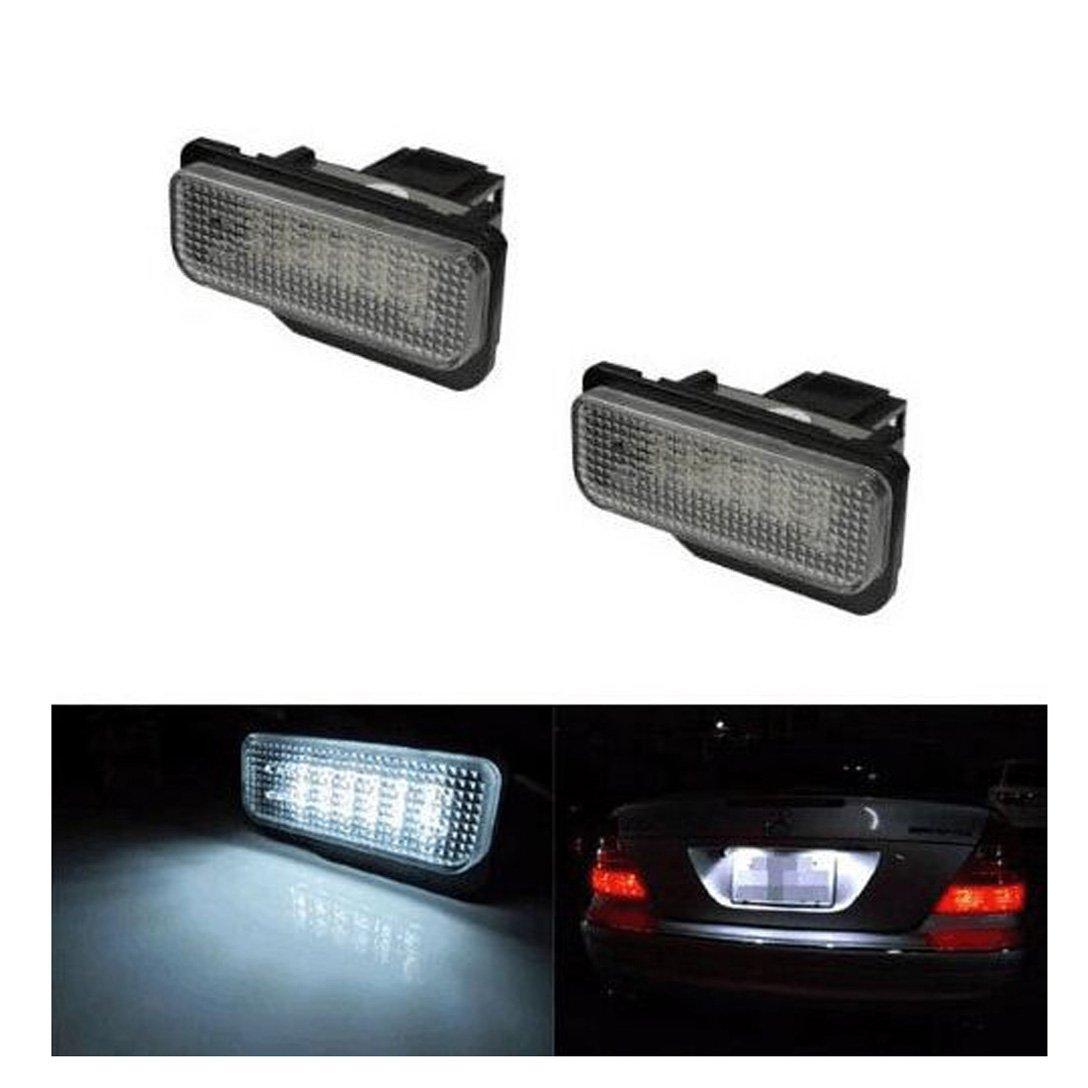 2Pcs Bianco 6000/K 18-Smd 12/V Targa LED Lamp Set Insiemi