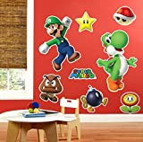 BirthdayExpress Super Mario Room Decor - Giant Wall Decals