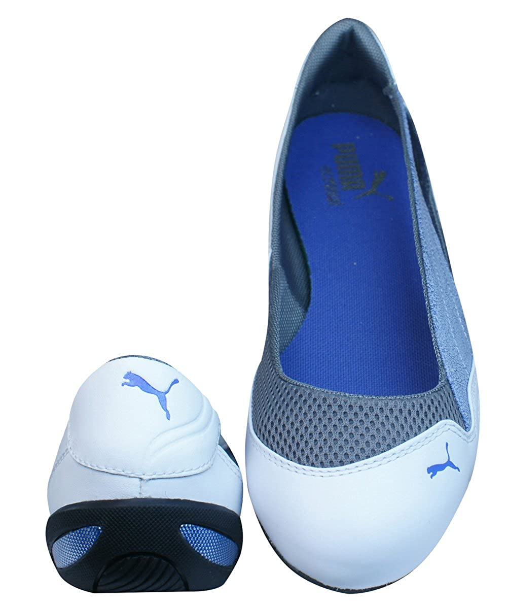 Puma Winning Diva Ballerina Womens Leather Pumps - Shoes - White-White-4   Amazon.co.uk  Shoes   Bags a0043ae36
