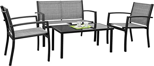 Tuoze 4 Pieces Outdoor Patio Furniture Set Conversation Set
