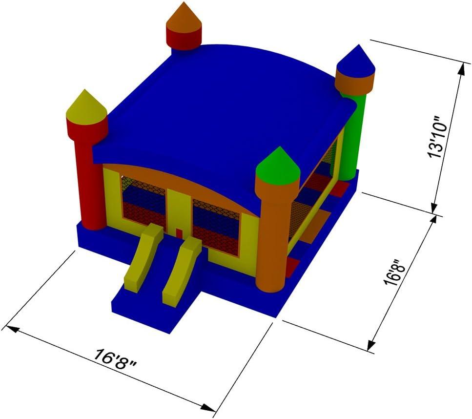 Amazon.com: HQ Bounce Casa 100% PVC. Castillo 16 x 16 de ...