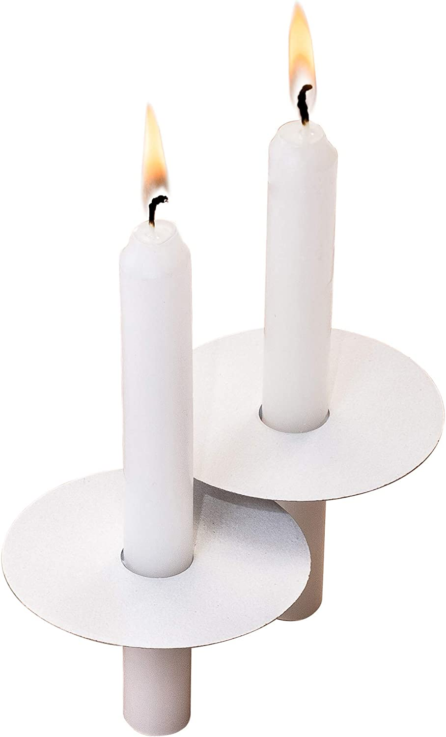 Exquizite 104 Church Candles with Drip Protectors for Christmas Eve Candlelight Service, Easter Service, Vigil Service, Memorial Service and Devotional Service, Unscented White 5