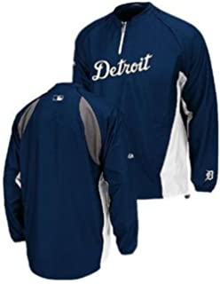 Majestic Detroit Tigers Authentic Triple Peak 1 4 Zip Jacket Big   Tall  Sizes 5fce4705d