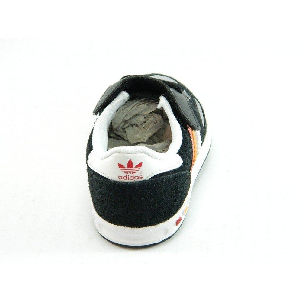 promo code b8bca fc6b1 Adidas - Adidas la trainer scarpe sneakers bambino nere strappo Q20586 -  Nero, 20 Amazon.it Scarpe e borse