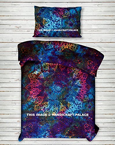 Tie Dye Star Mandala Duvet Cover Cotton Twin Size Bedding Set Comforter, Blanket,Quilt ,Doona Cover With Pillow Case (Tie Dye Twin Bedding)