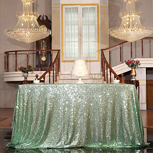 PartyDelight Sequin Tablecloth, Sequin Table Overlay, Square, 70