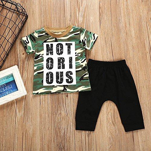 Camiseta Bebé de Letra de Camuflaje de Impresión Conjunto de Ropa de Bebé Niños Tops Pantalones 2 piezas Lonshell Trajes 6m-4t: Amazon.es: Ropa y accesorios