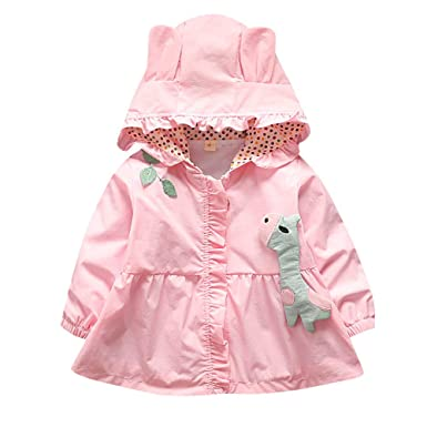 Amazon.com: PLENTOP Toddler Infant Baby, Newborn Baby Girls Long Sleeves Hooded Jackets Coat Kids Outwear Clothing: Clothing