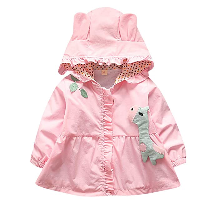 Amazon.com: Easytoy Baby Kid Girls Hooded Trench Coat Jacket Outwear Raincoat Outerwear Ears Hood Hoodie: Sports & Outdoors