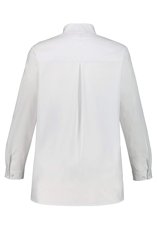 Ulla Popken dam skjortblus, stora storlekar blus Weiß