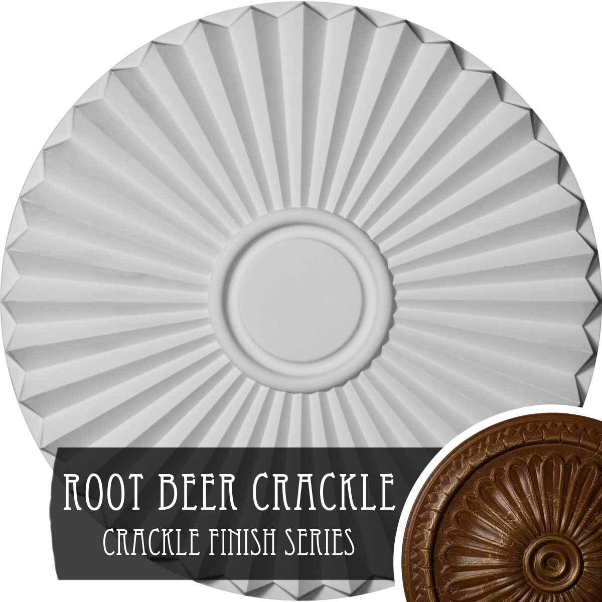 Ekena Millwork CM20SHRBC Shakuras Ceiling Medallion, 19 3/4'' OD x 1 3/8'' P, Root Beer Crackle