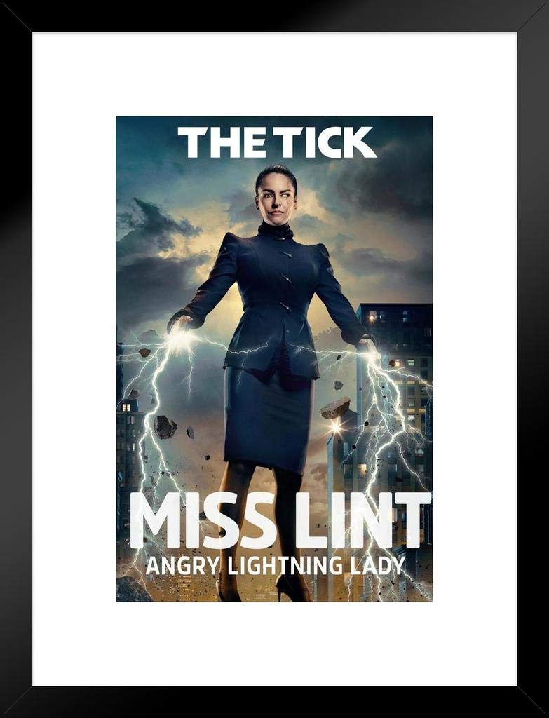 Pyramid America The Tick Miss Lint TV Series Framed Poster 12x18 inch