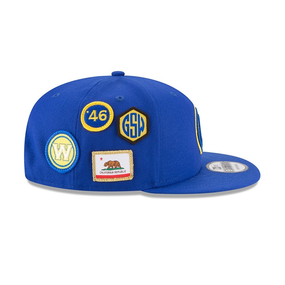 best service 236bc 1e90f Amazon.com   New Era Golden State Warriors 2018 NBA Draft Cap 9FIFTY  Snapback Adjustable Hat- Blue   Sports   Outdoors