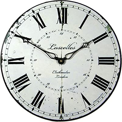 Roger Lascelles 24hr Clockmaker's Clock, 14.2-Inch - 1 year guarantee Battery included Made in england - wall-clocks, living-room-decor, living-room - 61swWQG pHL. SS400  -