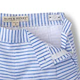 Hope & Henry Girls Striped Blue Pleat Short Made
