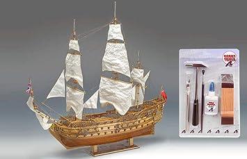 Outletdelocio Constructo 80839. Maqueta de Barco en Madera. Navio HMS Prince. Escala 1/61 + Herramientas 48008/57395