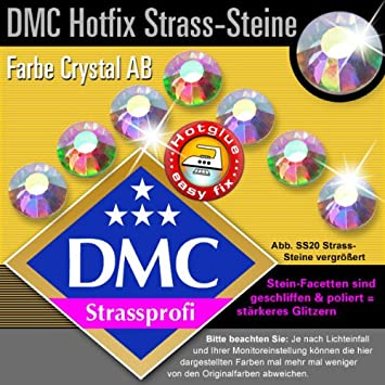 5 Box Hotfix Strasssteine AAA Qualität Glass Strass 2-3-4-5-6mm CRYSTAL AB SET