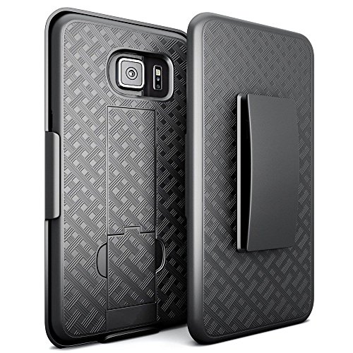 Black Rubberized Plastic Case (Galaxy S7 Holster Case, REDshield [Black] Supreme Protection Slim Matte Rubberized Hard Plastic Case with Holster & Belt Clip for Samsung Galaxy)