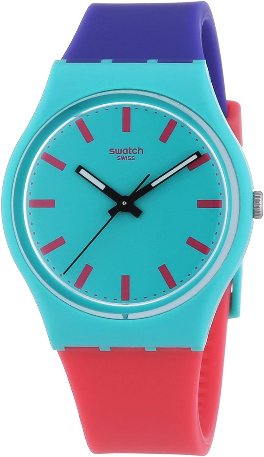 Swatch Reloj Analógico de Cuarzo Unisex con Correa de Plástico – GG215