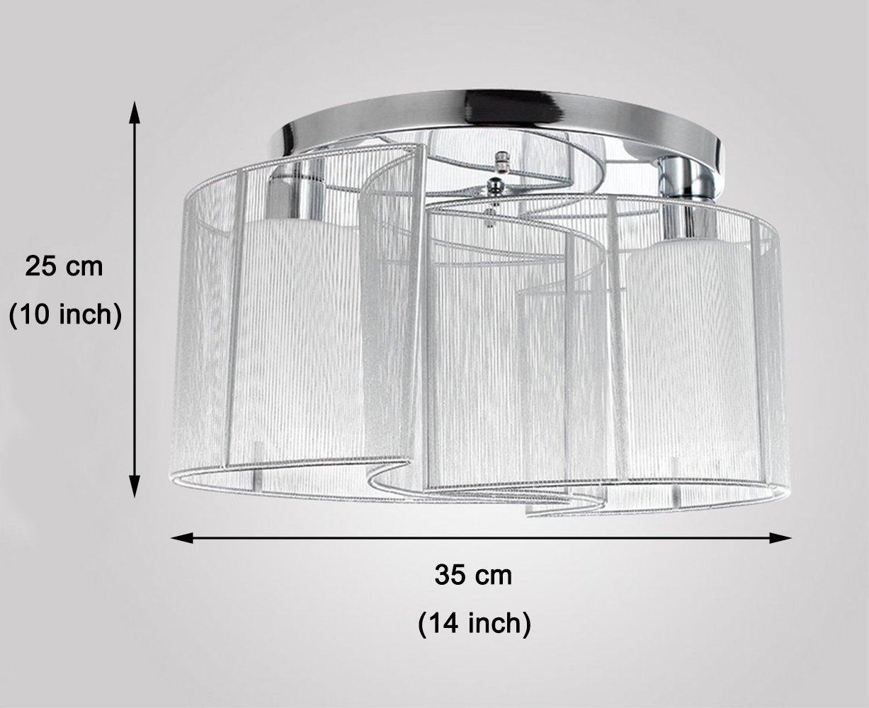 Glighone plafonnier tissu led e27 lustre salon moderne luminaire