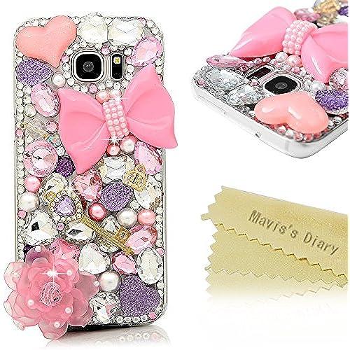 Galaxy S7 Edge Case - Mavis's Diary 3D Handmade Luxury Bling Crystal Shiny Gems Glitter Diamonds Rhinestone Sparkle Sales